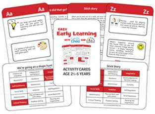 Easy Early Learning EYFS Activity cards to inspire Nurseries, Playgroups, Childminders, Parents, and Home schoolers